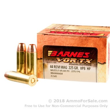 20 Rounds of 225gr XPB HP .44 Mag Ammo by Barnes
