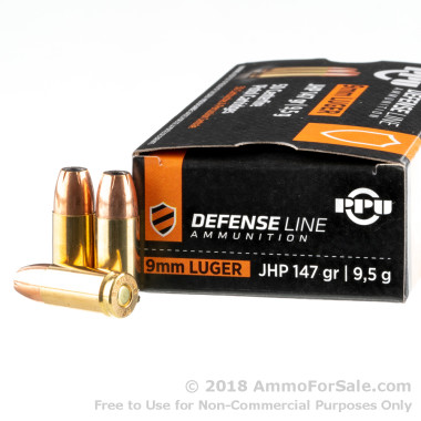 50 Rounds of 147gr JHP 9mm Ammo by Prvi Partizan
