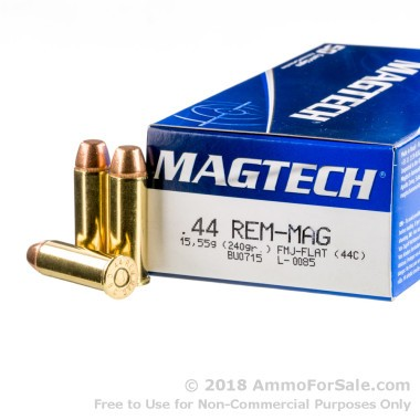 50 Rounds of 240gr FMC .44 Mag Ammo by Magtech