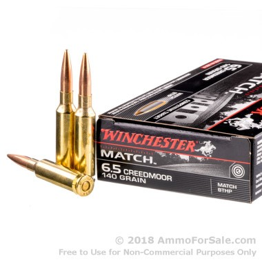 20 Rounds of 140gr HPBT 6.5mm Creedmoor Ammo by Winchester