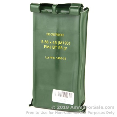 200 Rounds of 55gr FMJBT 5.56x45 Ammo by Prvi Partizan