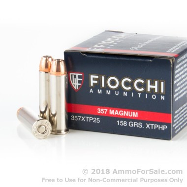 25 Rounds of 158gr JHP .357 Mag Ammo by Fiocchi