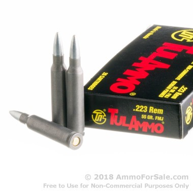 20 Rounds of 55gr FMJ .223 Ammo by Tula