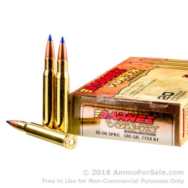 20 Rounds of 180gr TTSX 30-06 Springfield Ammo by Barnes