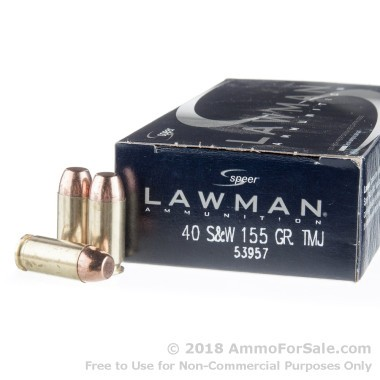 50 Rounds of 155gr TMJ .40 S&W Ammo by Speer