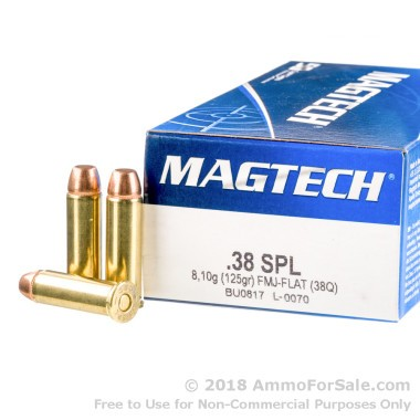1000 Rounds of 125gr FMC .38 Spl Ammo by Magtech