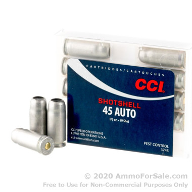 10 Rounds of 1/3 ounce #9 shot .45 ACP Ammo by CCI