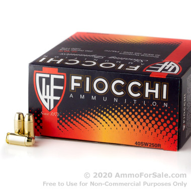 1000 Rounds of 165gr FMJ .40 S&W Ammo by Fiocchi