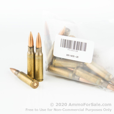 20 Rounds of 175gr OTM .308 Win Ammo by Military Surplus Lake City Army Ammo Plant