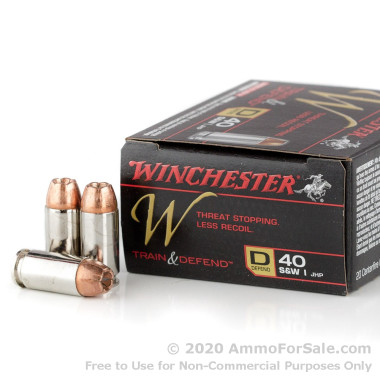 200 Rounds of 180gr JHP .40 S&W Ammo by Winchester W Train and Defend