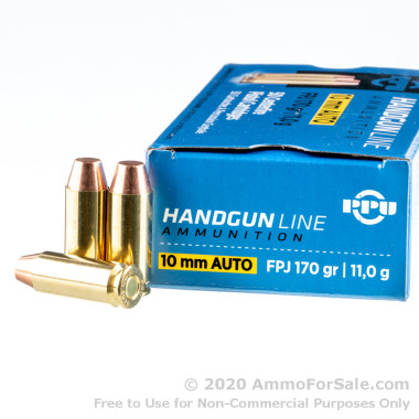 50 Rounds of 170gr FPJ 10mm Ammo by Prvi Partizan