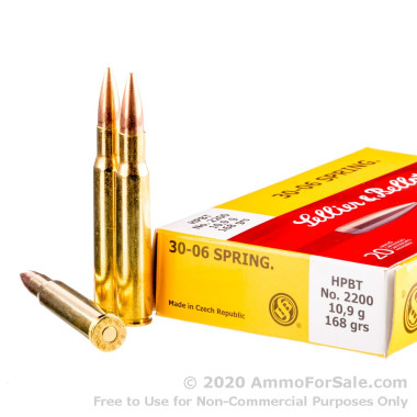 20 Rounds of 168gr HPBT 30-06 Springfield Ammo by Sellier & Bellot