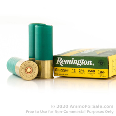 250 Rounds of 1 ounce Rifled Slug 12ga Ammo by Remington