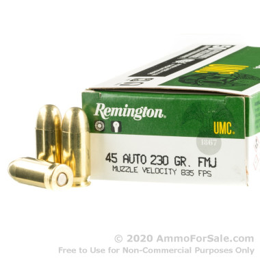 500  Rounds of 230gr MC .45 ACP Ammo by Remington