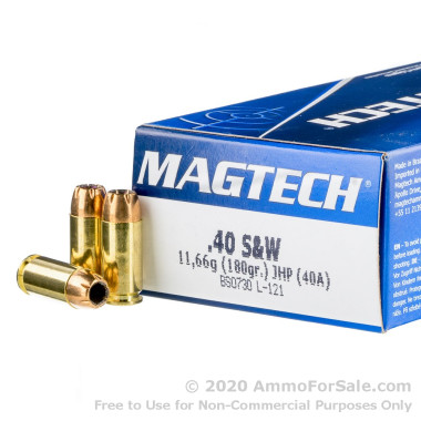 1000 Rounds of 180gr JHP .40 S&W Ammo by Magtech
