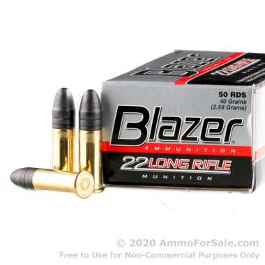 5000 Rounds of 40gr LRN 22 LR Ammo by CCI