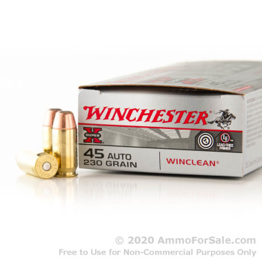 50 Rounds of 230gr BEB .45 ACP Ammo by Winchester - Law Enforcement Trade-In