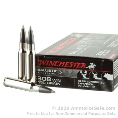 20 Rounds of 150gr Polymer Tipped .308 Win Ammo by Winchester