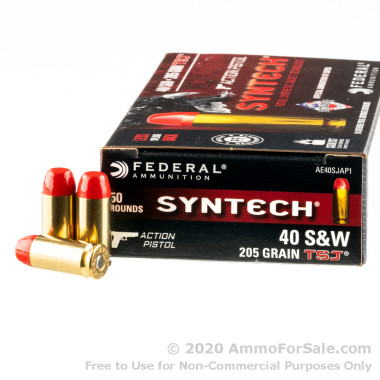 500 Rounds of 205gr Total Synthetic Jacket 40 S&W Ammo by Federal