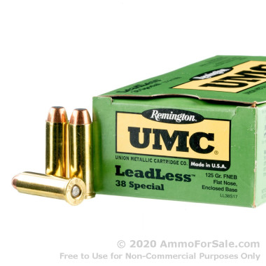500  Rounds of 125gr TCJFN .38 Spl Ammo by Remington