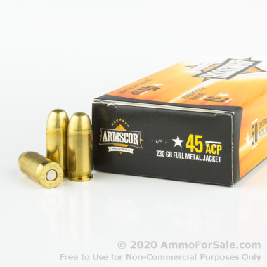 1000 Rounds of 230gr FMJ .45 ACP Ammo by Armscor