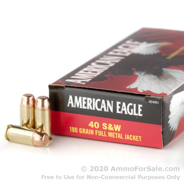 1000 Rounds of 180gr FMJ .40 S&W Ammo by Federal