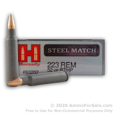 200 Rounds of 52gr HPBT .223 Ammo by Hornady