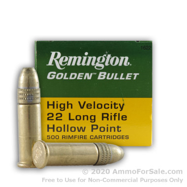 500  Rounds of 36gr HP .22 LR Ammo by Remington