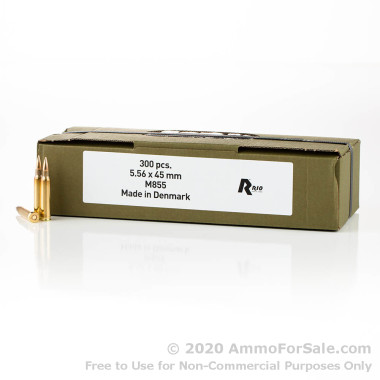 300 Rounds of 62gr FMJ 5.56x45 Ammo by Rio Ammunition