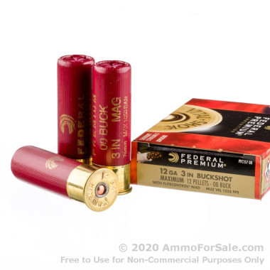 5 Rounds of  00 Buck 12ga Ammo by Federal