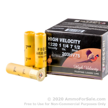 25 Rounds of 1 1/4 ounce #7 1/2 shot 20ga Ammo by Fiocchi