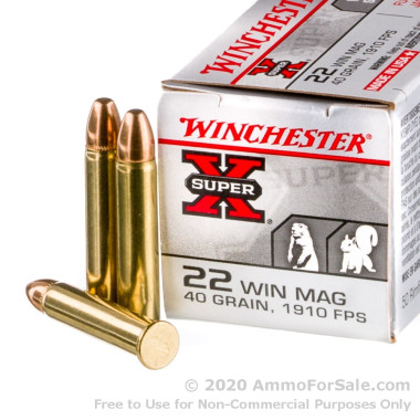 250 Rounds of 40gr FMJ .22 WMR Ammo by Winchester Super-X