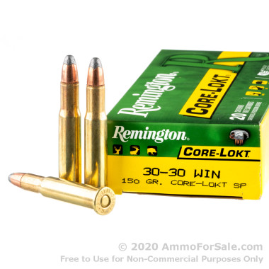 20 Rounds of 150gr Core-Lokt SP 30-30 Win Ammo by Remington