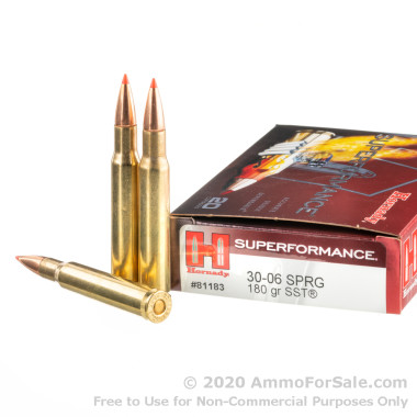 20 Rounds of 180gr SST 30-06 Springfield Ammo by Hornady