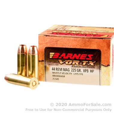 200 Rounds of 225gr XPB HP .44 Mag Ammo by Barnes