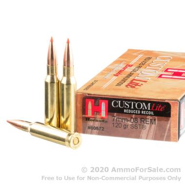 20 Rounds of 120gr SST 7mm-08 Rem  Ammo by Hornady