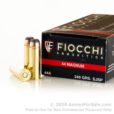 1000 Rounds of 240gr JSP .44 Mag Ammo by Fiocchi