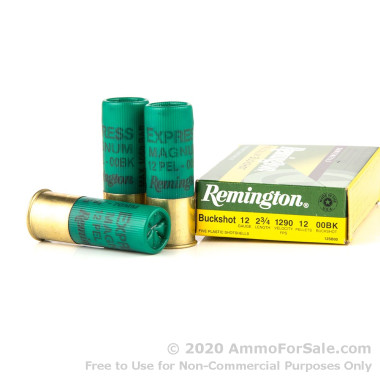 5 Rounds of  00 Buck 12ga Ammo by Remington