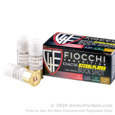 250 Rounds of LE Low Recoil 00 Buck 12ga Ammo by Fiocchi