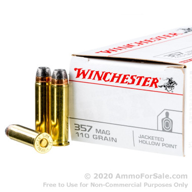 50 Rounds of 110gr JHP .357 Mag Ammo by Winchester