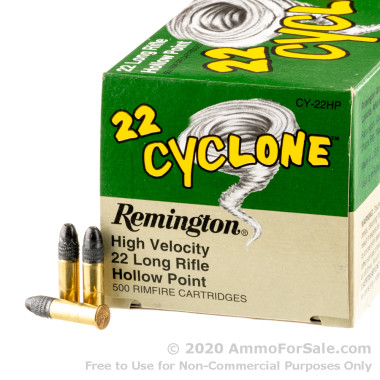 500  Rounds of 36gr LHP .22 LR Ammo by Remington