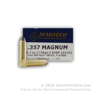 50 Rounds of 158gr SJSP .357 Mag Ammo by Magtech