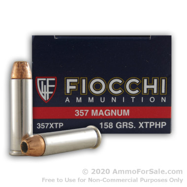 500  Rounds of 158gr JHP .357 Mag Ammo by Fiocchi