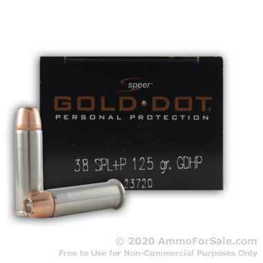 500  Rounds of 125gr JHP .38 Spl Ammo by Speer