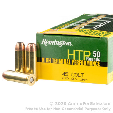50 Rounds of 250gr JHP .45 Long-Colt Ammo by Remington