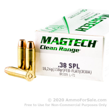 50 Rounds of 158gr FEB .38 Spl Ammo by Magtech