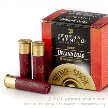 25 Rounds of 3/4 ounce #6 shot 28ga Ammo by Federal Wing-Shok