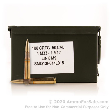 100 Rounds of 660gr Tracer .50 BMG Ammo by Lake City