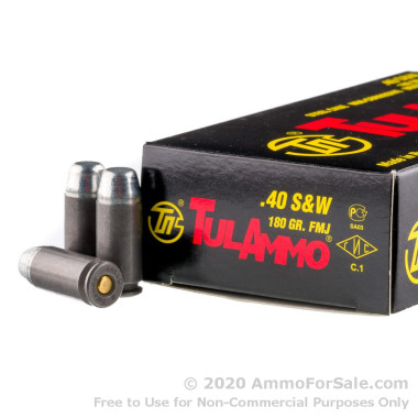500  Rounds of 180gr FMJ .40 S&W Ammo by Tula
