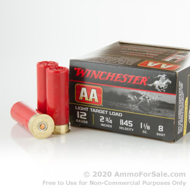 25 Rounds of  #8 Shot 12ga Ammo by Winchester